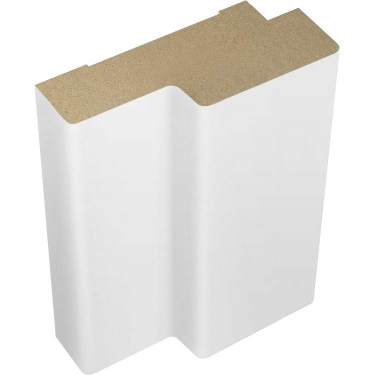 Комплект дверной коробки Velldoris 74х30 мм ламинированный белый, 870х2076 мм фото