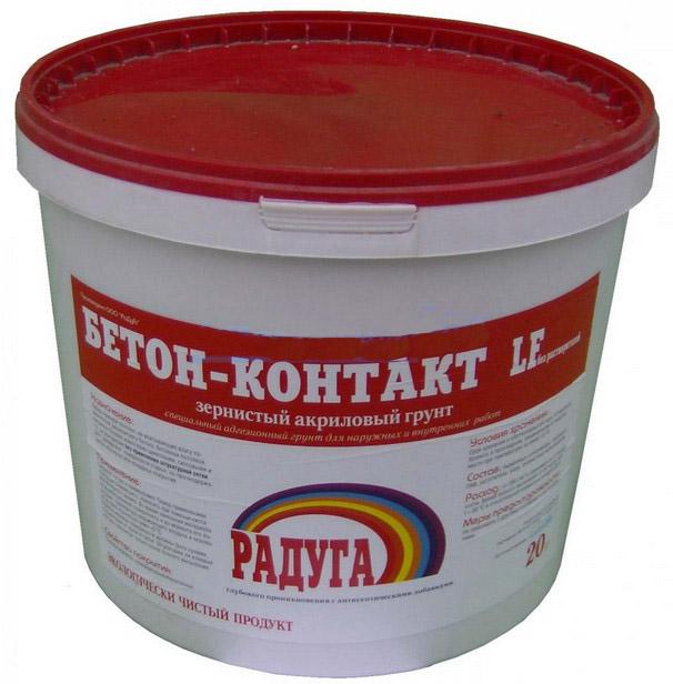 Радуга Бетон-контакт LF, 20 кг, Грунтовка для бетона фото