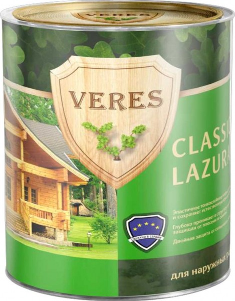 Veres Classic, 2,7 л, Антисептик махагон фото