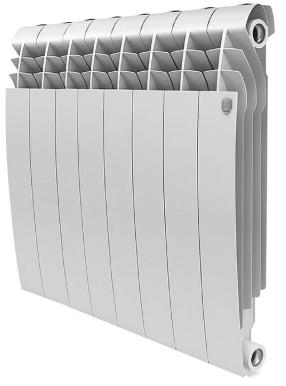 Радиатор биметаллический Royal Thermo Biliner 500 Bianco Traffico, 8 секций фото