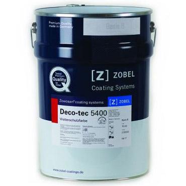 Zobel Deco-tec 5400, 5 л, Лак для дерева белый weiss 0.20 фото
