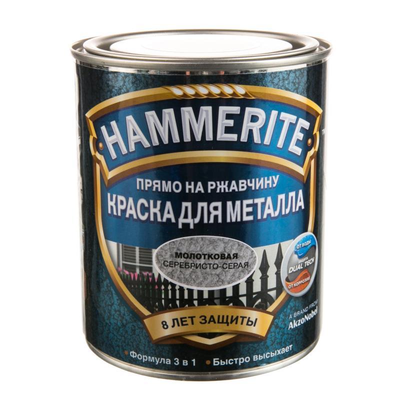 Hammerite Hammered, 0,75 л, Краска по металлу антикоррозийная алкидная белая молотковая фото