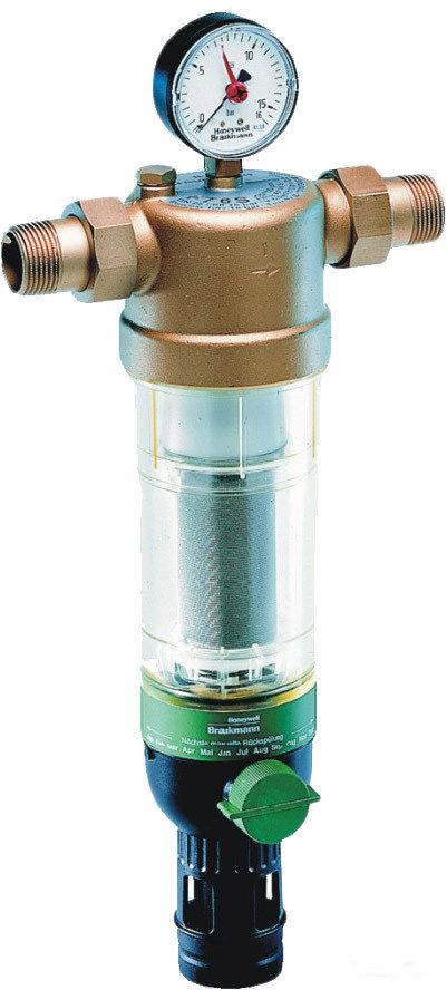 Фильтр тонкой очистки Honeywell F76S-3/4″-AA для холодной воды (с промывочным краном и редуктором давления) 100 мкм фото