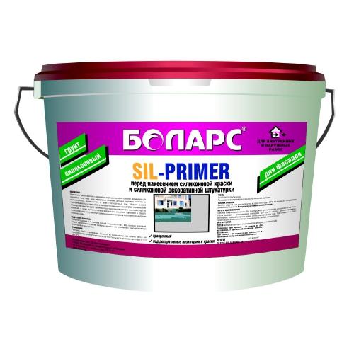 Боларс Sil-Primer Color 10 кг Грунтовка силиконовая.