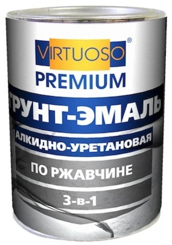 Virtuoso 3 в 1 0.9 кг, Грунт-эмаль алкидно-уретановая по ржавчине (серая) фото