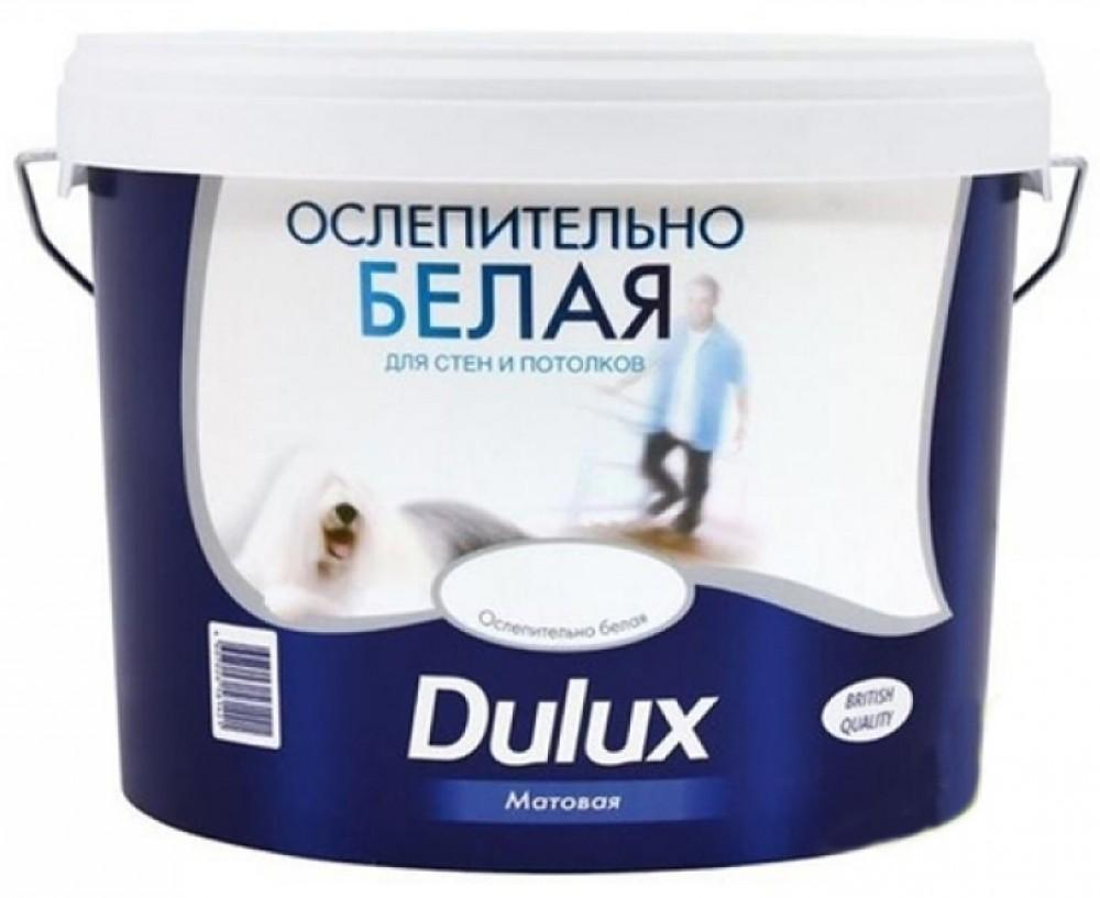 Dulux 10 л, Краска интерьерная латексная (ослепительно белая) фото