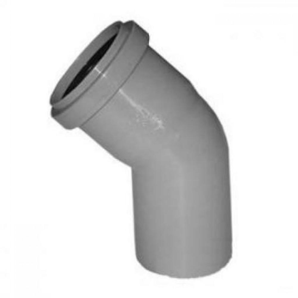 Отвод 40 мм 45, канализационный фото