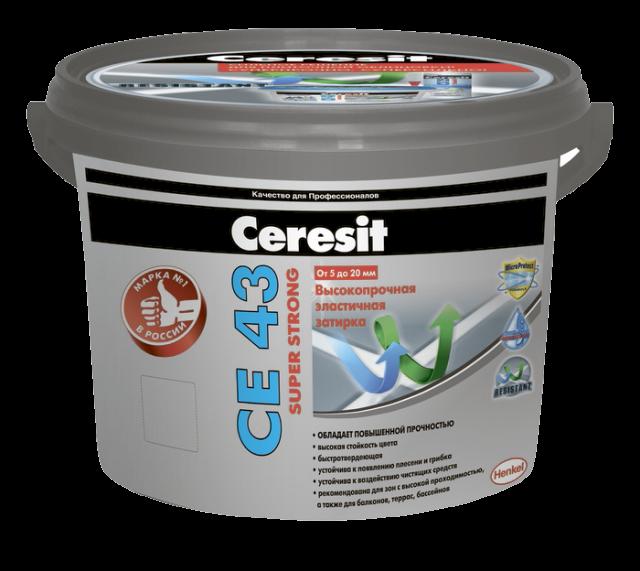 Ceresit CE43 Super strong 16, 2 кг, Затирка водоотталкивающая фото