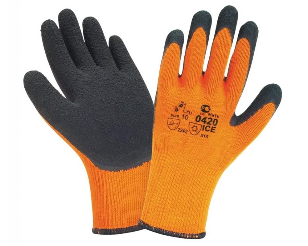 ХБ зимние, Перчатки с односторонним обливом, фото