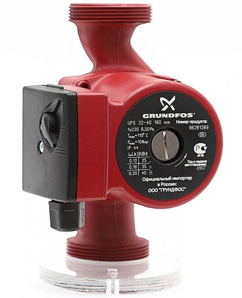 Насос циркуляционный для систем отопления Grundfos UPS 32-40, 4 м/2.9 м3 фото