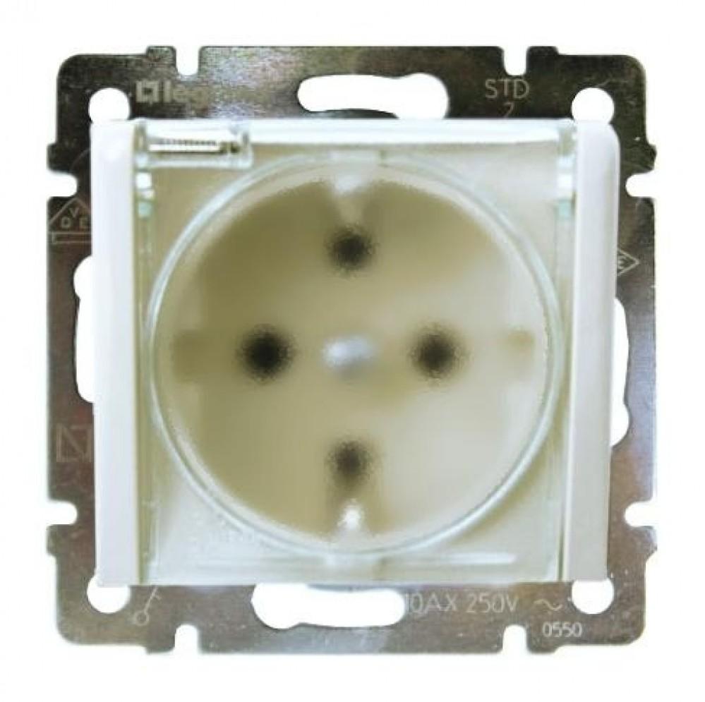Розетка 2К+З 16A с крышкой со шторками IP44 774220 Legrand Valena цвет белый фото