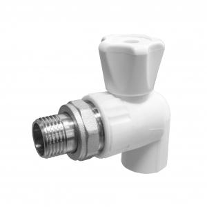 Кран шаровой Valfex 20х1/2 (60/10) для радиатора угловой