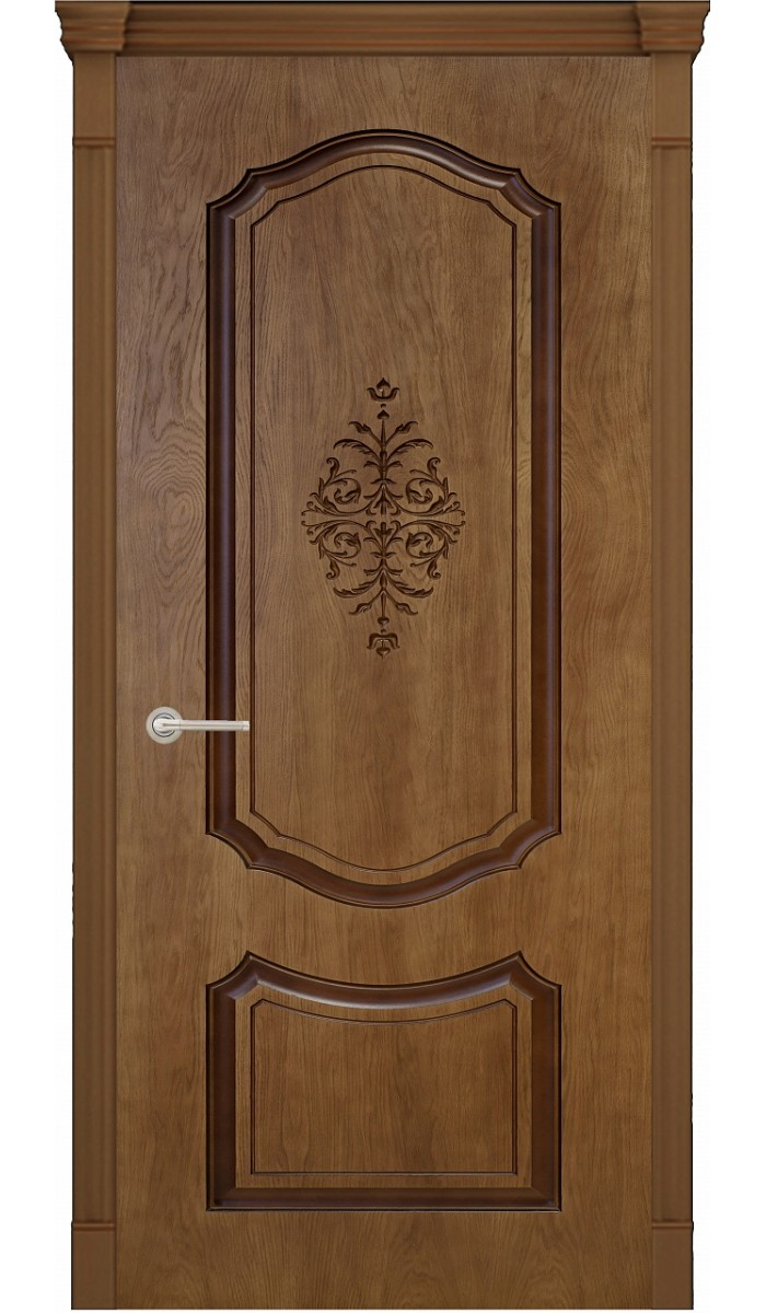 Межкомнатная дверь Верда Престиж 3D ДГ (миндаль), 900х2000 мм фото
