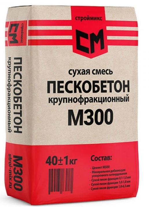 СтройМикс М300, 40 кг, Пескобетон фото
