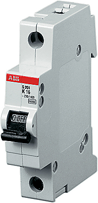 1P ABB S201, 6А, C, Выключатель автоматический фото