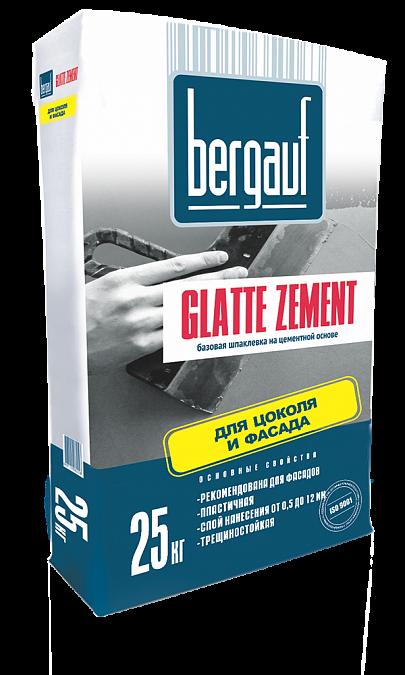 Bergauf Glatte Zement 25 кг, Шпатлевка цементная фасадная (серая) фото