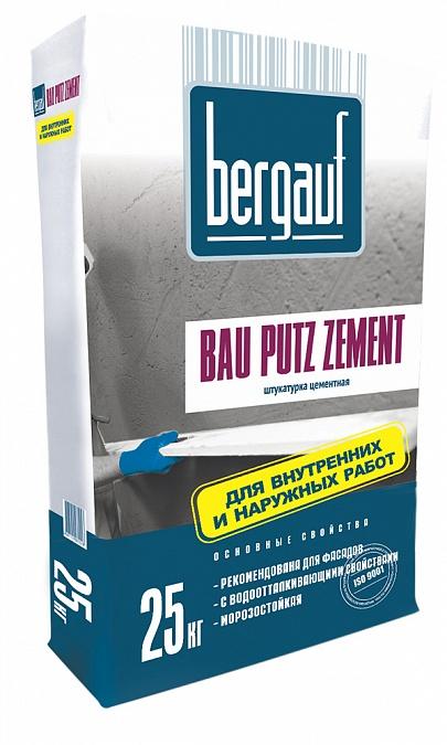 Bergauf Bau Putz Zement, 25 кг, Штукатурка цементная для машинного нанесения фото