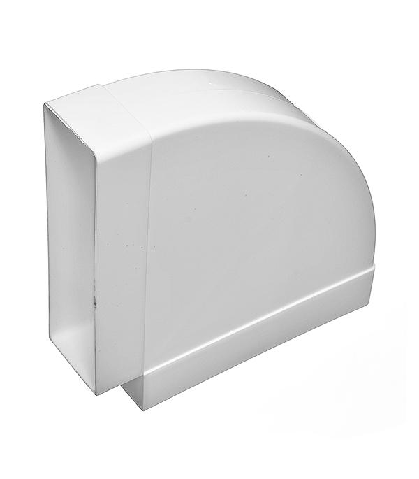 Отвод горизонтальный для вентиляционных коробов 60х204 мм, угол 90° фото