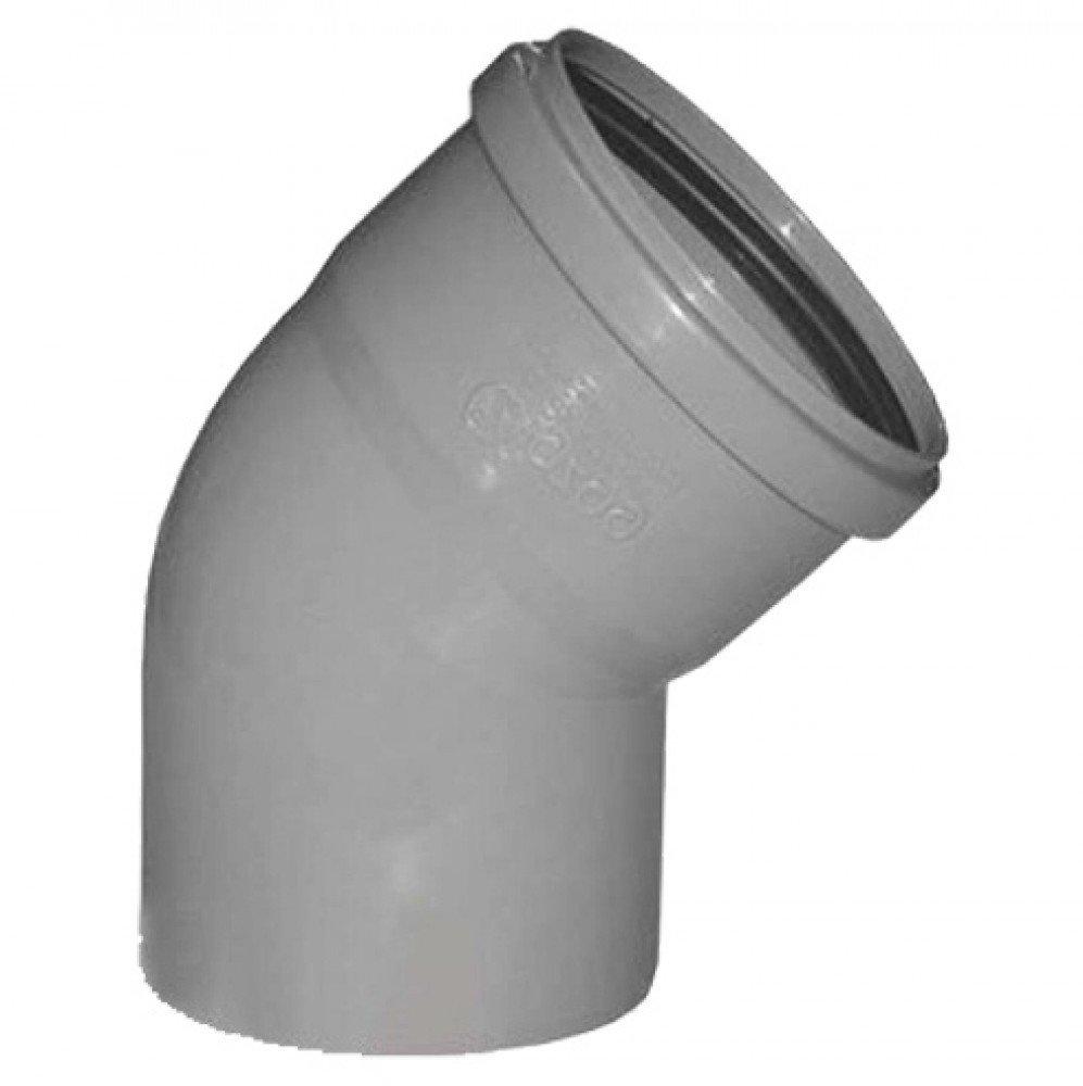 Отвод 110 мм 67, канализационный фото