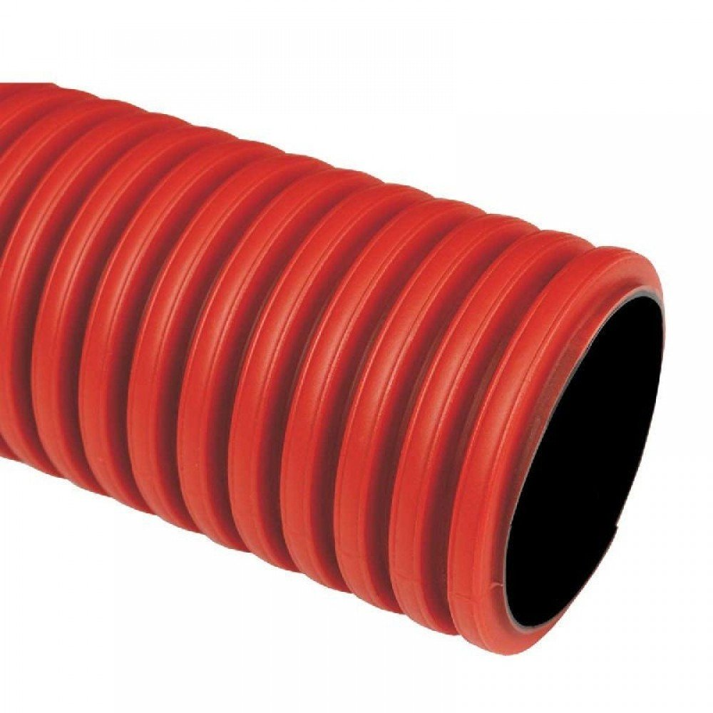 Гофротруба цветная ПВХ (красная), диаметр 25 мм фото
