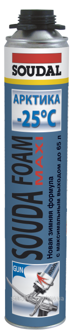 Soudal Soudafoam Maxi Арктика, 870 мл, Пена монтажная профессиональная зимняя фото