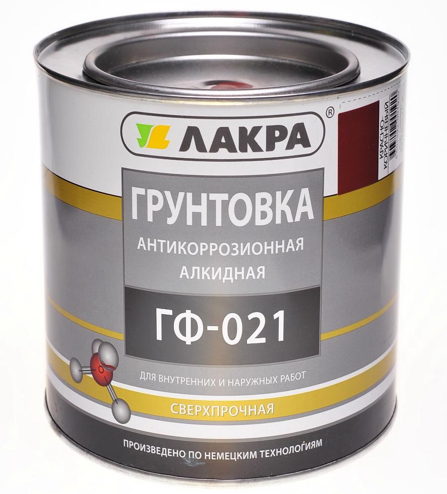 Лакра ГФ-021 1 кг, Грунтовка антикоррозионная алкидная (красно-коричневая) фото