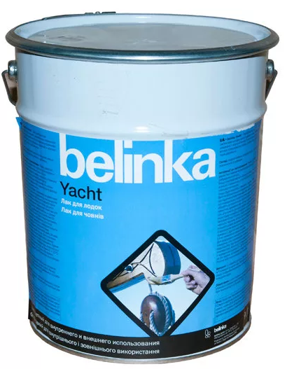 Belinka Yacht, 9 л, Лак лодочный глянцевый фото