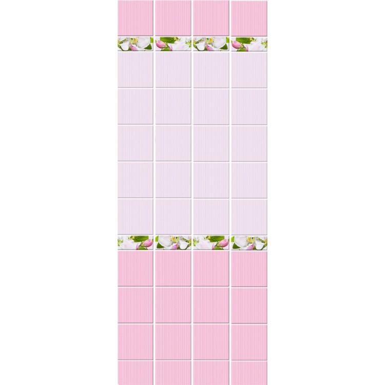 Стеновая панель ПВХ Кронапласт Unique Яблоневый цвет розовый фоновая 2700х250 мм.