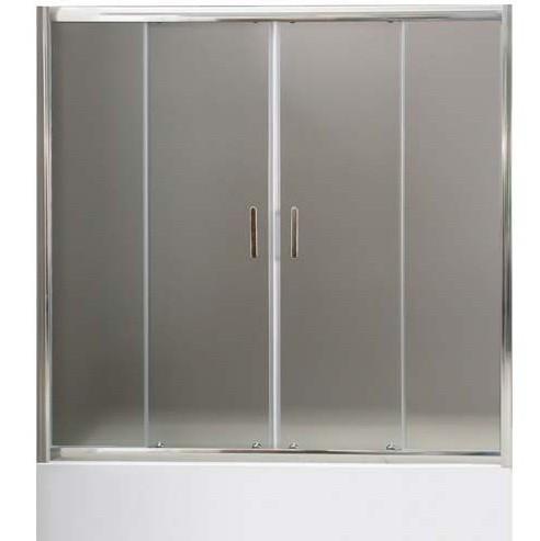 Душевая дверь на ванну BelBagno Uno VF-2-150/145-P-Cr 1500х1450 мм.