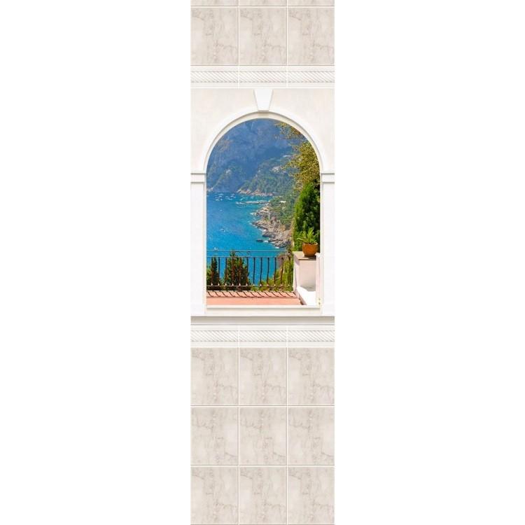 Стеновая панель ПВХ Novita Панорамы 3D Триумф №10 узор 2700х250 мм фото