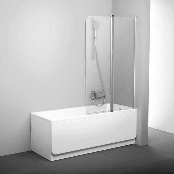Шторка для ванны Ravak Chrome CVS2-100 R 2 створки 1500х1000 мм стекло Transparent сатин фото