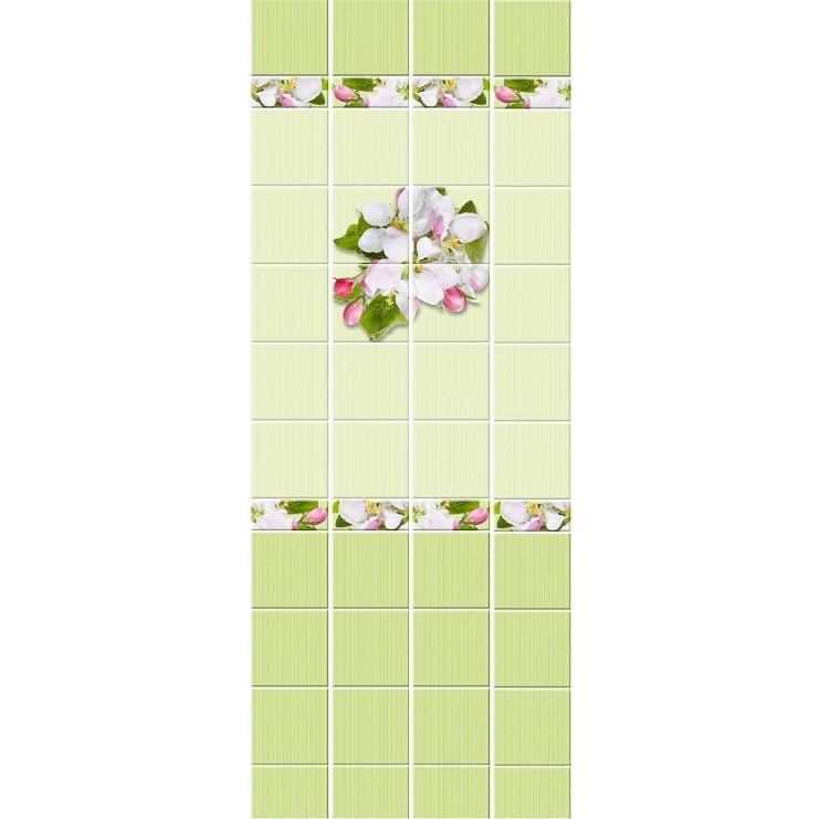 Стеновая панель ПВХ Кронапласт Unique Яблоневый цвет зелёный 2700х250 мм.