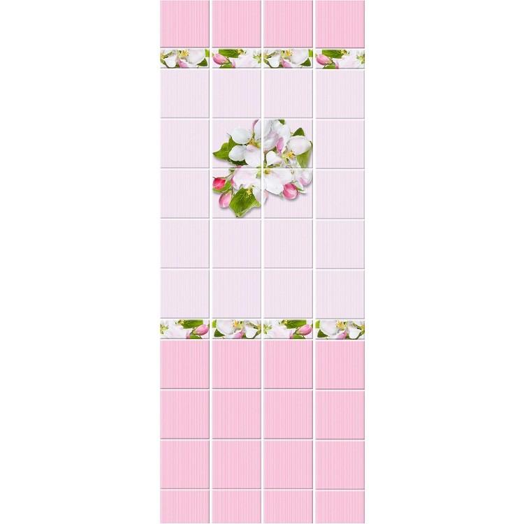 Стеновая панель ПВХ Кронапласт Unique Яблоневый цвет розовый 2700х250 мм.