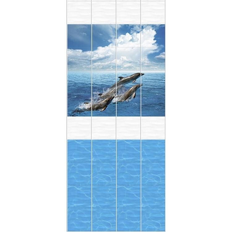 Стеновая панель ПВХ Кронапласт Unique Дельфины 2700х250 мм.
