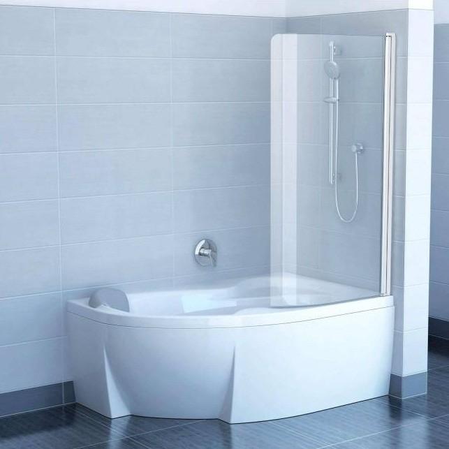 Шторка для ванны Ravak Chrome CVSK1 R 1500х1000 мм стекло Transparent блестящая фото