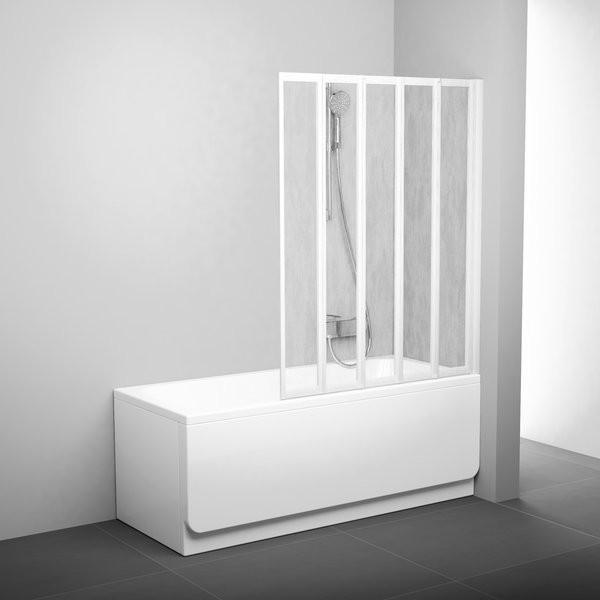 Шторка для ванны Ravak VS5 1135х1330 мм Rain белая фото