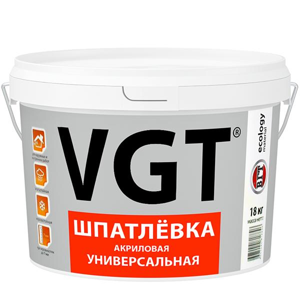Шпатлевка акриловая универсальная VGT 18 кг фото