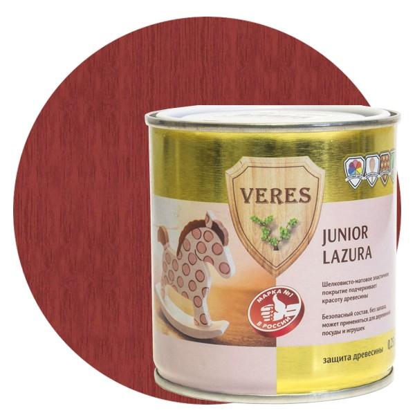 Пропитка для древесины Veres Junior Lazura №15 терракотовая, 0,25 л фото