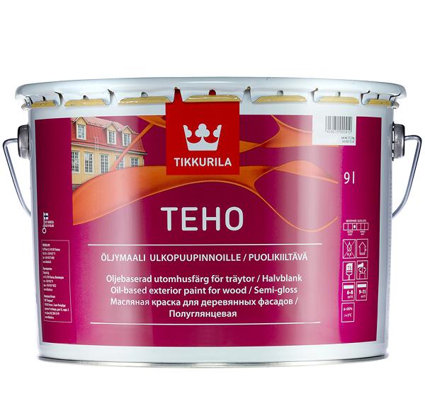 Краска фасадная Tikkurila Teho база А полуглянцевая 9 л фото