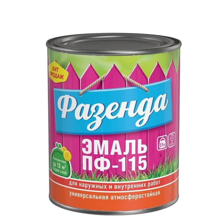 Эмаль Ленинградские краски ПФ-115 Фазенда белая 0,9 кг