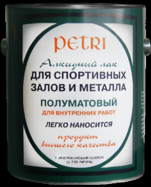 Petri Spar Gym, 3.78 л, Лак для спортивных залов и металла фото