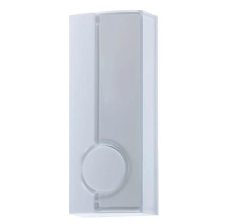 Кнопка для проводного звонка Zamel с/п 220 В цвет белый.