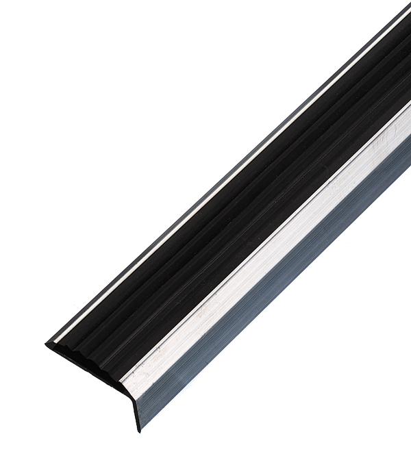 Порог для кромок ступеней 37,5х23х900 мм с резиновой вставкой Без покрытия фото