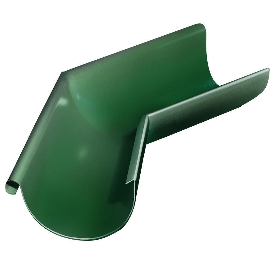 Угол желоба Grand Line D125/90 мм внешний 135 градусов RAL 6005 зеленый фото