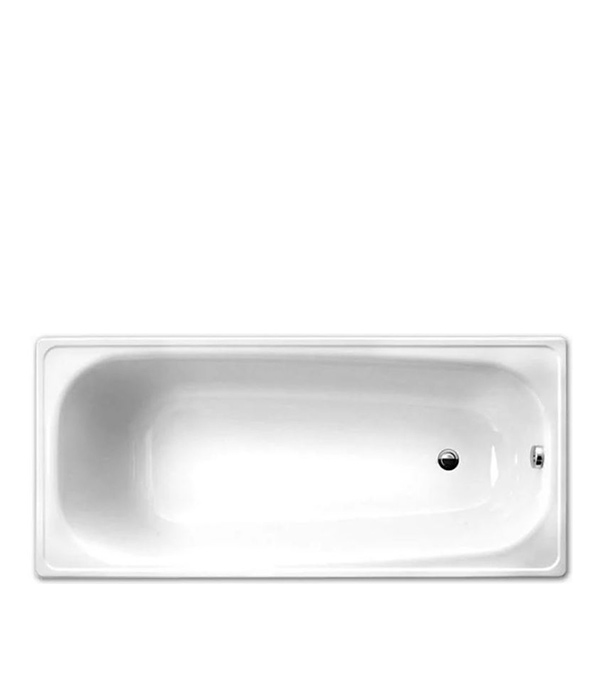 Ванна стальная WHITE WAVE Ева 170х70 см с полиуретановым покрытием с ножками и комплектом крепления.