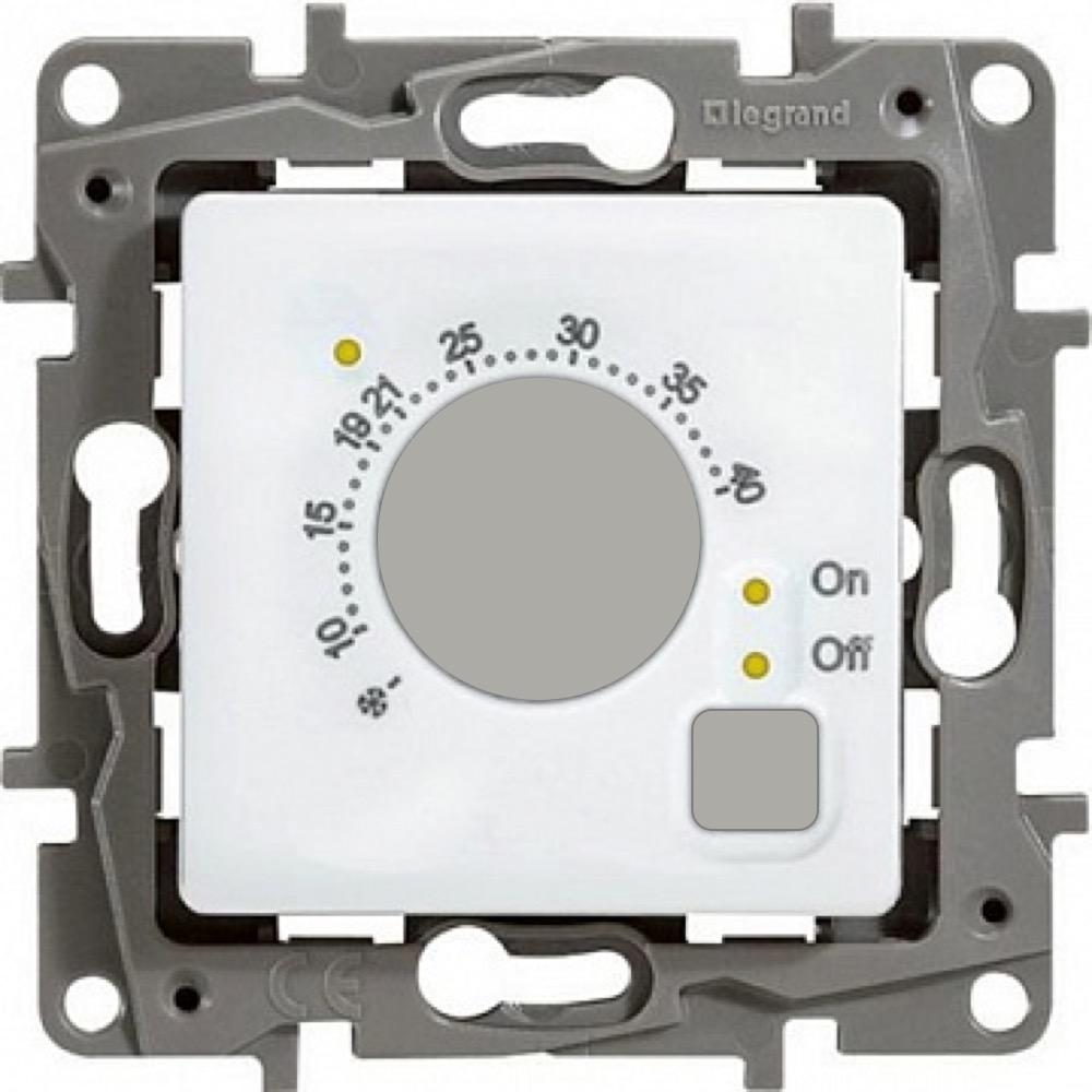 Термостат теплого пола Legrand Etika с внешним датчиком (белый), 16А фото