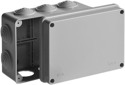 Коробка распаячная наружная RuVinil Tyco 240х195 мм.