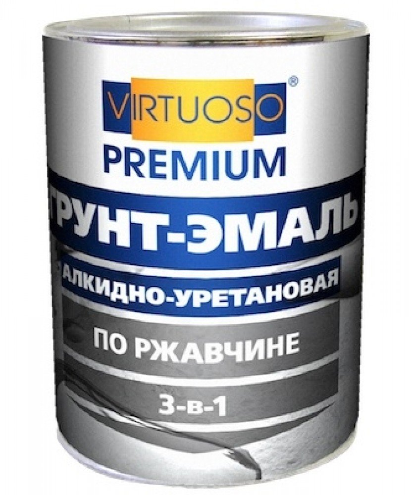 Virtuoso 3 в 1 1.9 кг, Грунт-эмаль алкидно-уретановая по ржавчине (серая) фото