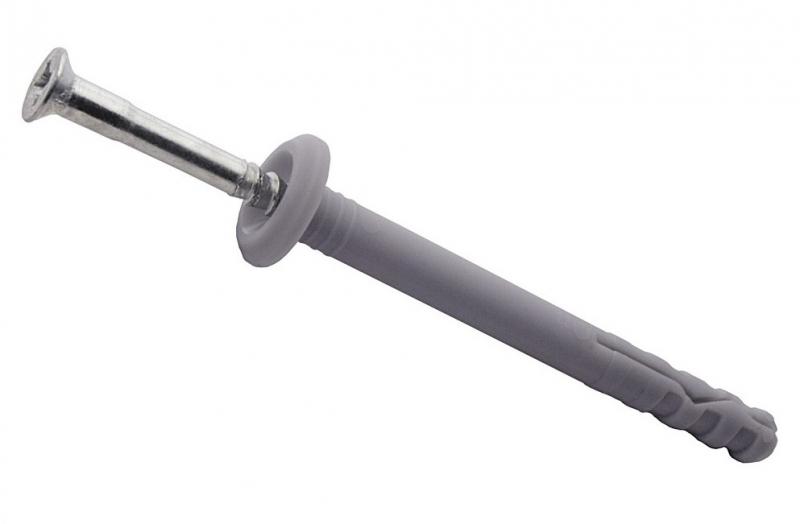 8х120 мм (100 шт), дюбель-гвоздь с бортиком фото
