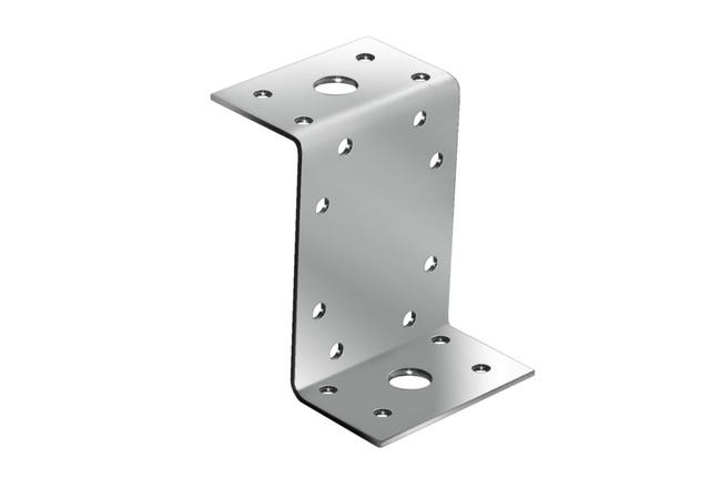 Уголок крепежный анкерный Z-образный 55х105х90 мм, толщина 2 мм фото